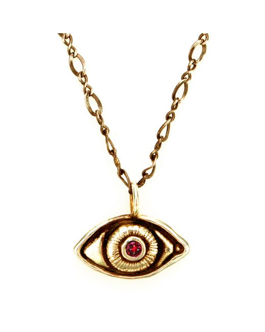 Pamela Love | Metallic Oculus Gold And Ruby Pendant | Lyst