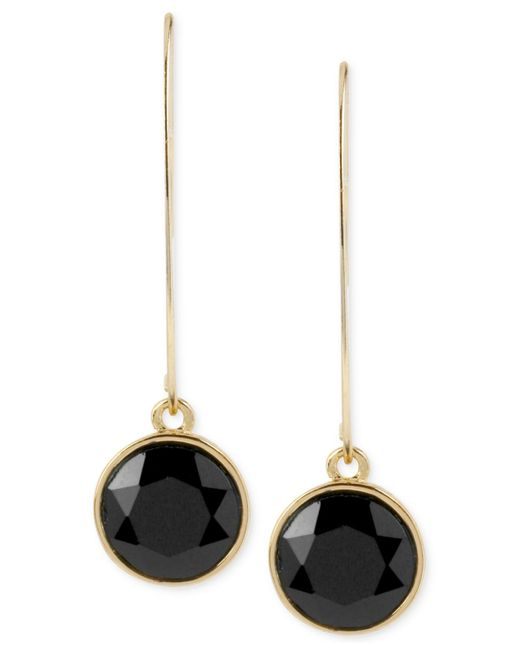 Kenneth Cole | Metallic Gold-tone Faceted Round Bead Long Drop Earrings | Lyst
