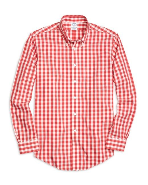 Brooks Brothers | Pink Non-iron Regent Fit Gingham Sport Shirt for Men | Lyst