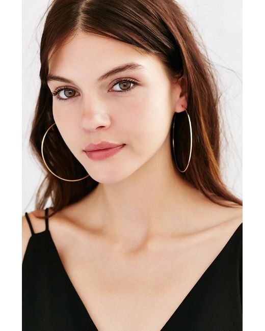 Urban Outfitters | Metallic Sterling Silver + 18k Gold Plated Rachel Large Hoop Earring | Lyst