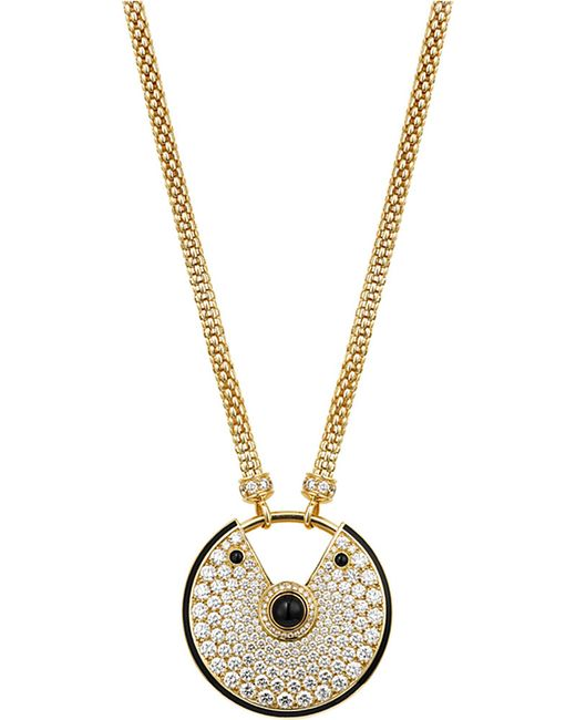 Cartier | Metallic Amulette De 18ct Yellow-gold, Diamond And Onyx Necklace | Lyst