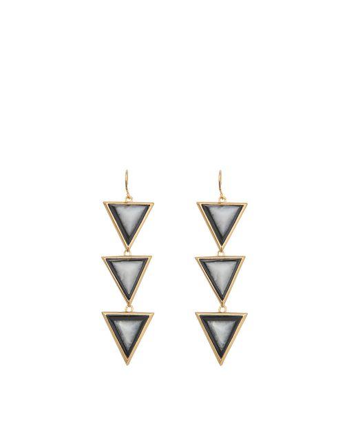 Isharya | Metallic Op Art Pyramid Quartz Earrings | Lyst