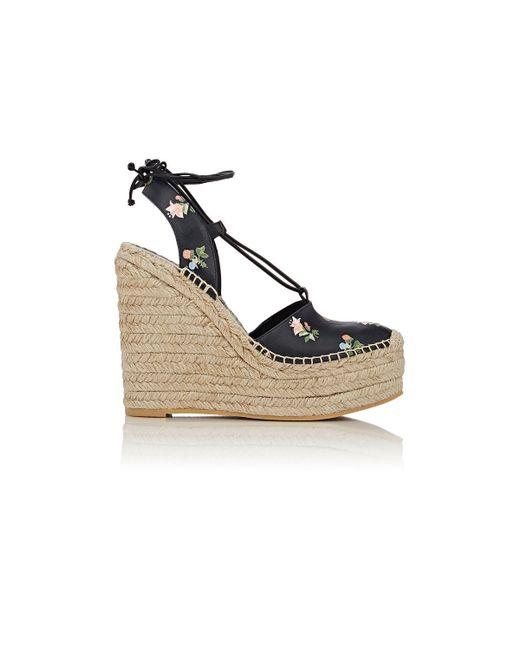 laurent ankle tie espadrille wedge sandals save 40