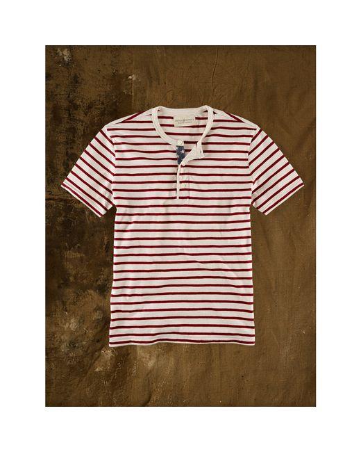 Denim & Supply Ralph Lauren | Red Striped American-flag Henley for Men | Lyst