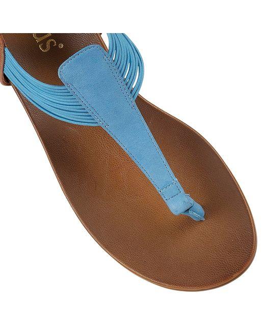 Lotus | Blue Corfu Toe Post Sandals | Lyst
