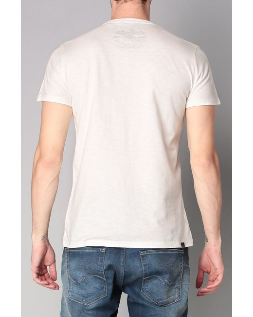 pepe jeans short sleeve t shirt in white for men lyst. Black Bedroom Furniture Sets. Home Design Ideas