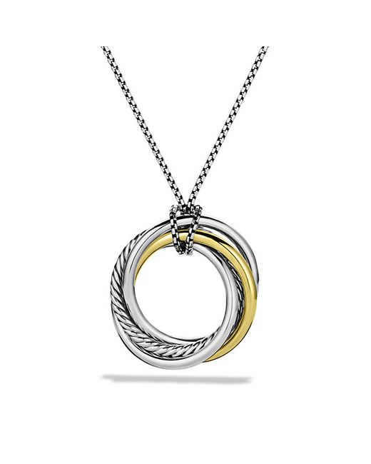 David Yurman | Metallic Crossover Pendant Necklace With 14k Gold | Lyst