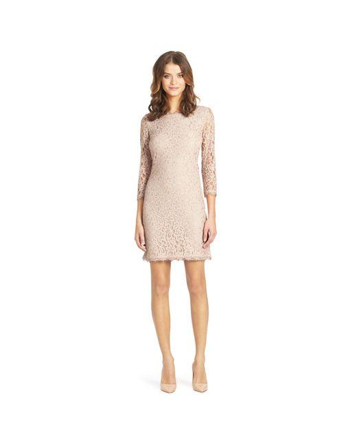 Diane von Furstenberg   Natural Zarita Lace Body-Con Dress   Lyst