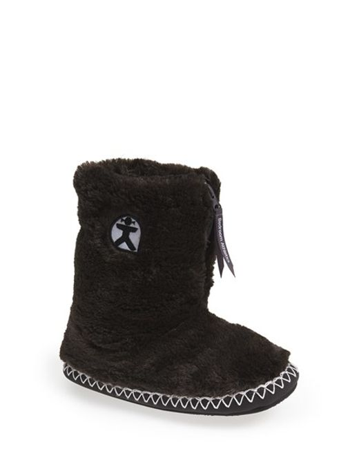 Bedroom Athletics | Black 'marilyn' Faux Fur Slipper Boot | Lyst