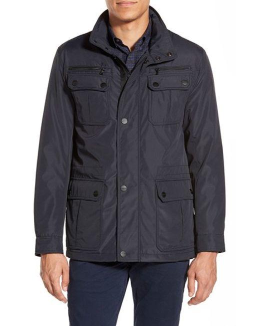 Michael Kors | Blue 'elgin' Hidden Hood Field Jacket for Men | Lyst