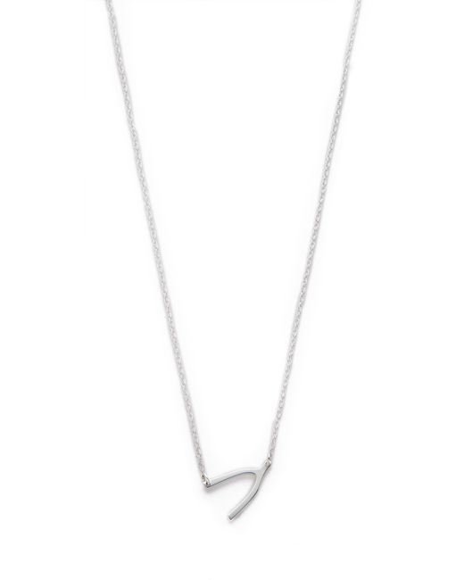 Jennifer Zeuner | Metallic Mini Wishbone Necklace | Lyst