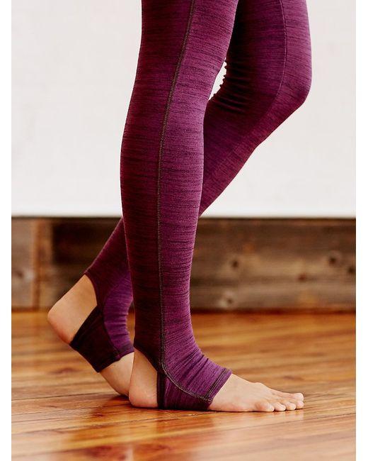 Free People   Purple Heathered Namaste Legging   Lyst