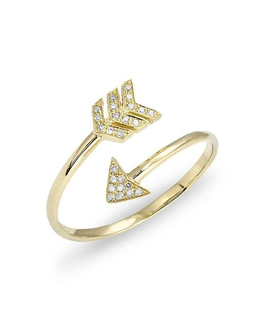Anne Sisteron | Metallic Yellow Gold Diamond Mini Arrow Wrap Ring | Lyst