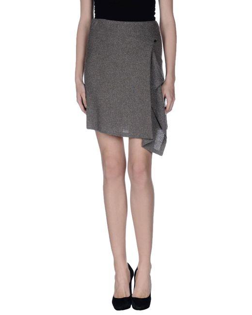 GAUDI | Gray Knee Length Skirt | Lyst