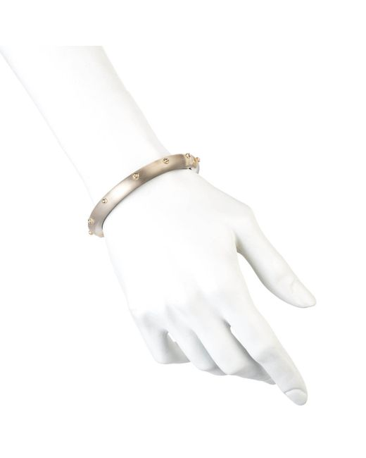 Alexis Bittar | Brown Crystal Gold Rivet Hinged Bracelet You Might Also Like | Lyst