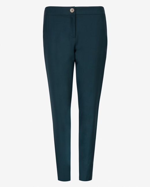 Ted Baker | Green Chintz Curved Wool Suit Trousers | Lyst