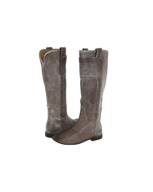 Frye Paige Tall Riding in Gray (Grey Burnished Antique ...