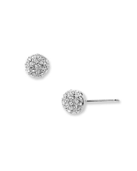 Nadri | Metallic Small Pave Stud Earrings | Lyst