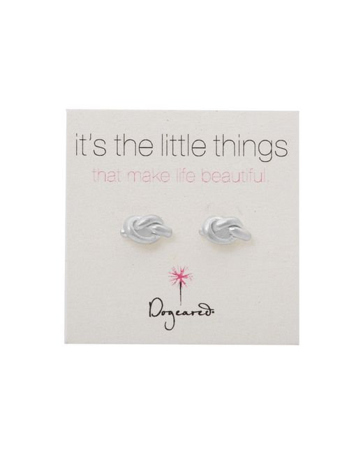 Dogeared | Metallic Little Things Simple Knot Studs | Lyst