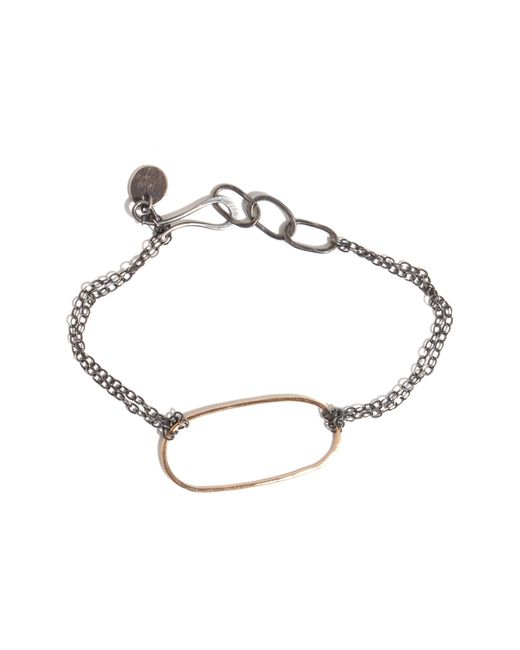 Melissa Joy Manning   Metallic Forged Oval Bracelet   Lyst