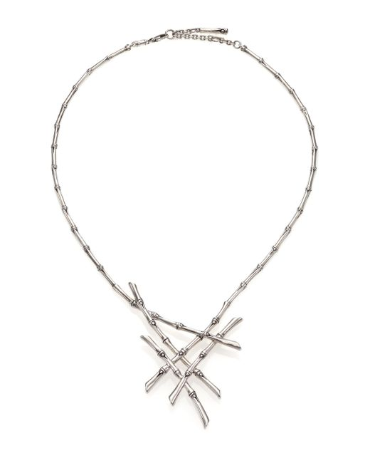 John Hardy   Metallic Bamboo Sterling Silver Bib Necklace   Lyst