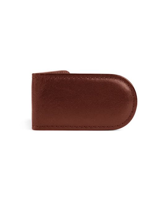 Bosca   Brown Leather Money Clip for Men   Lyst