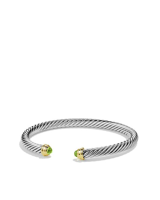 David Yurman | Metallic Cable Classics Bracelet With Peridot And 14k Gold, 5mm | Lyst