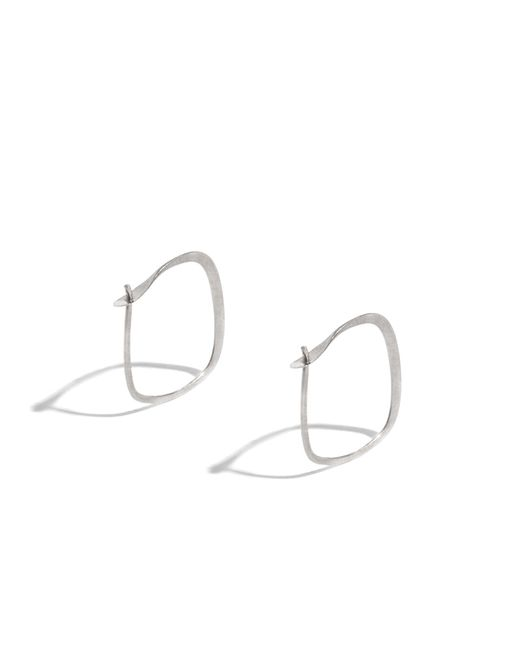 Melissa Joy Manning | Metallic 1/2 Inch Square Hoops | Lyst