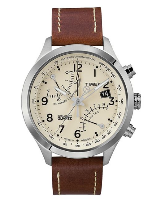 Timex | Brown Timex 'intelligent Quartz' Fly-back Chronograph Watch for Men | Lyst
