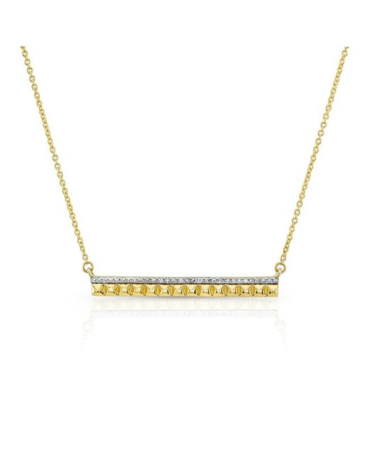 Anne Sisteron - Metallic 14kt Yellow Gold Diamond And Spike Bar Necklace - Lyst