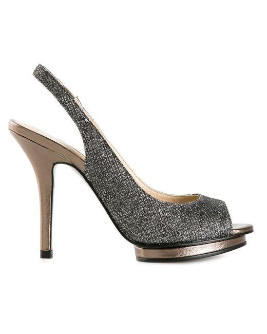 Pelle Moda | Silver 'rivka' Stiletto Sandals | Lyst