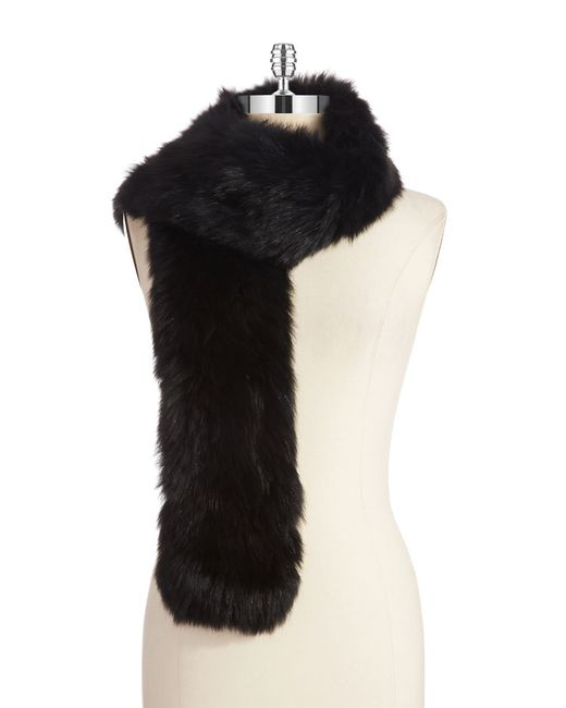 Surell | Black Fox Fur Scarf | Lyst