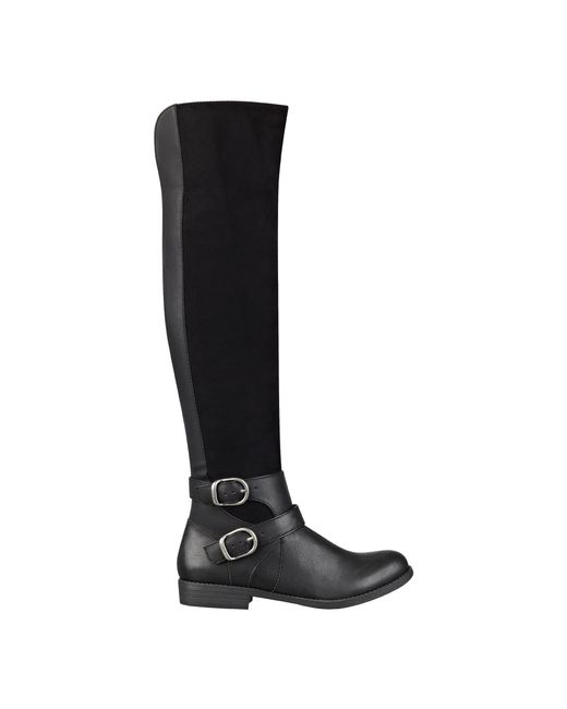 Nine West | Black Woodsie Over The Knee Boots | Lyst