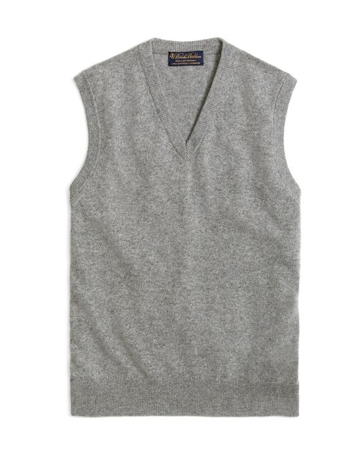 Brooks Brothers | Gray Cashmere Sweater Vest-basic Colors for Men | Lyst