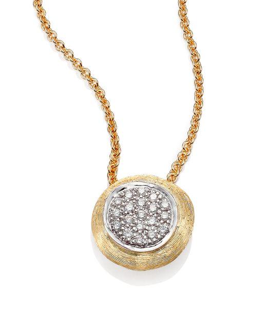 Marco Bicego | Metallic Delicati Diamond, 18k Yellow & White Gold Pendant Necklace | Lyst