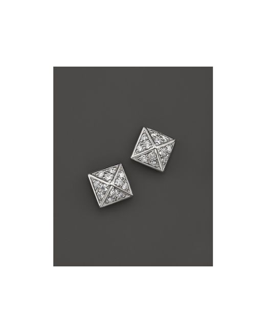 KC Designs | Diamond Pyramid Stud Earrings In 14k White Gold, .30 Ct. T.w. | Lyst