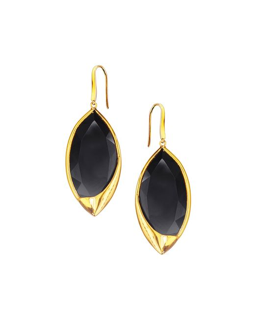 Lana Jewelry | Metallic 14k Jet Black Marquise Earrings | Lyst