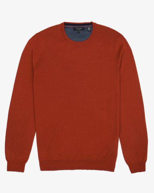 Ted Baker | Orange Merino Wool Jumper for Men | Lyst