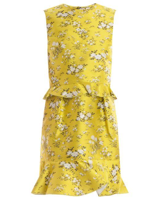 Erdem | Yellow Talia Dress | Lyst