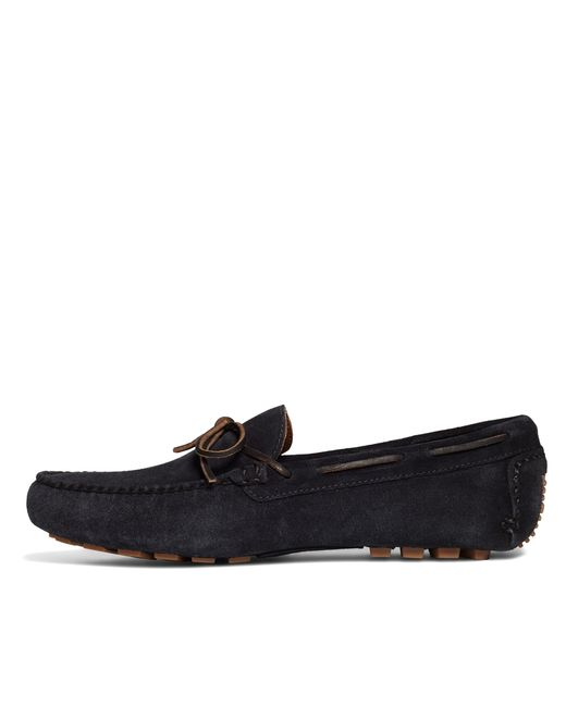 Brooks Brothers | Blue Suede Tie Driving Moccasins for Men | Lyst