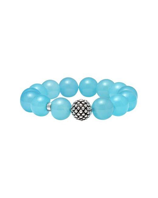 Lagos | Blue Caviar Beaded Bracelet | Lyst
