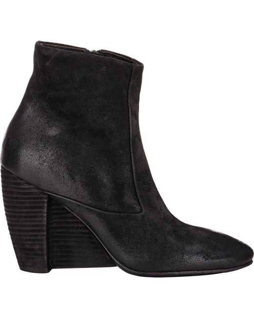 mars 232 ll s suede wedge heel boots in black lyst