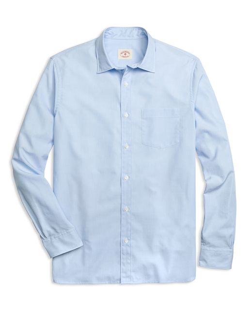 Brooks Brothers | Blue Spread Collar Sport Shirt for Men | Lyst