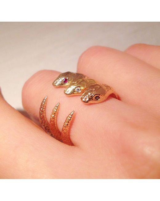 Pamela Love | Metallic Serpent Ring | Lyst