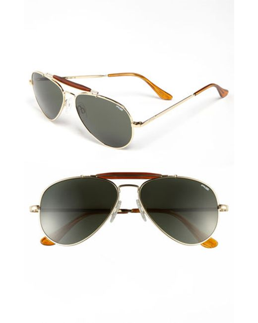 Randolph Engineering | Metallic 'sportsman' 57mm Sunglasses for Men | Lyst
