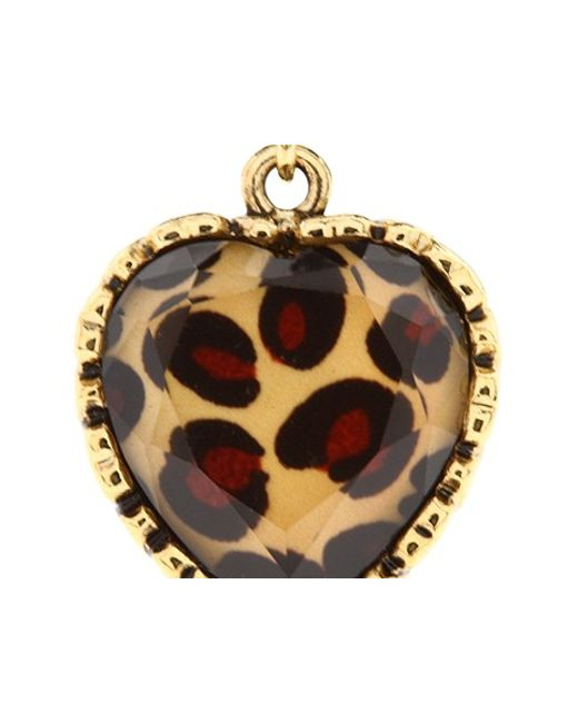 Betsey Johnson | Multicolor Euro Leopard Heart Black Bow | Lyst
