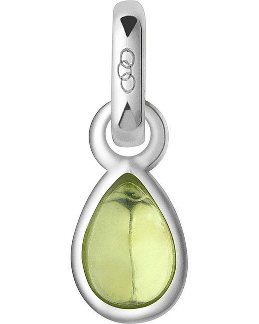 Links of London | Yellow August Sterling Silver And Peridot Mini Birthstone Charm | Lyst