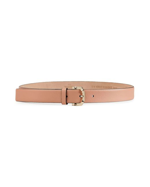 valentino leather belt beige in pink lyst