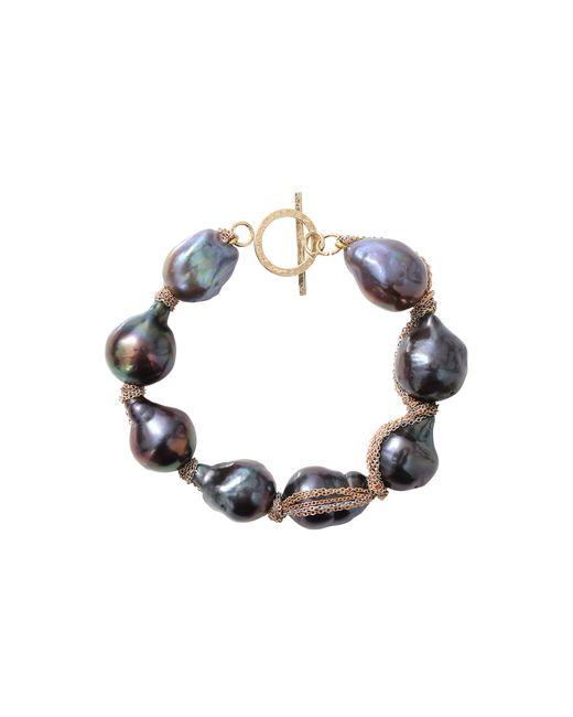 Jordan Alexander | Blue Navy Baroque Pearl Bracelet | Lyst