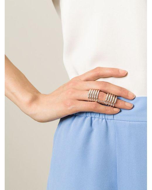Shaun Leane | Metallic 'quill' Finger Ring | Lyst